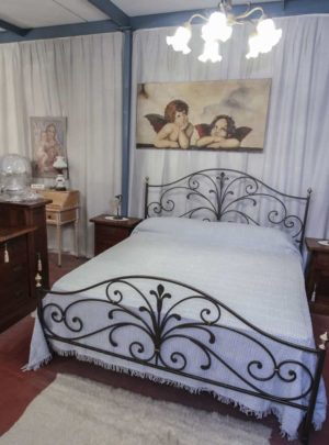 artisan wrought iron double bed and dresser Group + nightstands