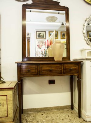 Console and mirror walnut Louis XVI style