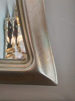 Mirror in silver leaf branded artisan a 3 arches