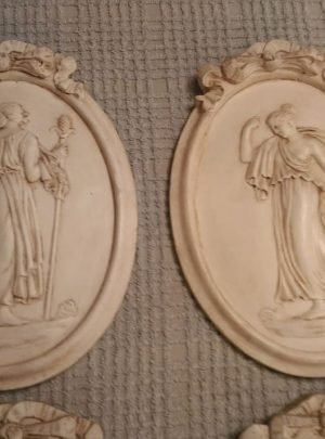 Panels subject antique plaster 4 seasons