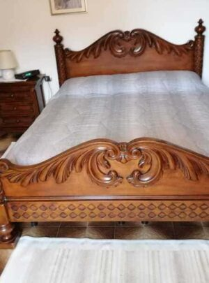 Bedroom used mirror bed 2 nightstands dresser wardrobe. For info and measurements please contact us.