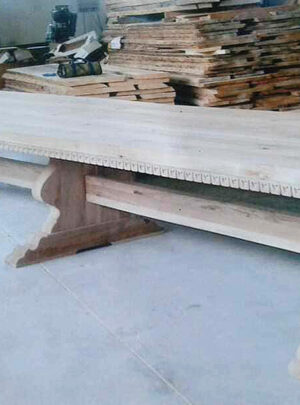 Raw solid walnut top table 5x1.1 meters